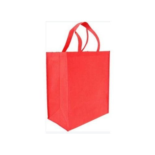 Red Loop Handle Non Woven Foldable Bag
