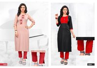 HEER Heavy Super Slub Rayon Mirror Embroidery Work Kurti