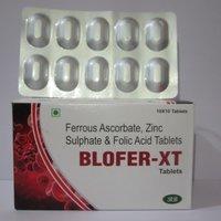 Ferrous Ascorbate, Zinc Sulphate & Folic Acid Tablets