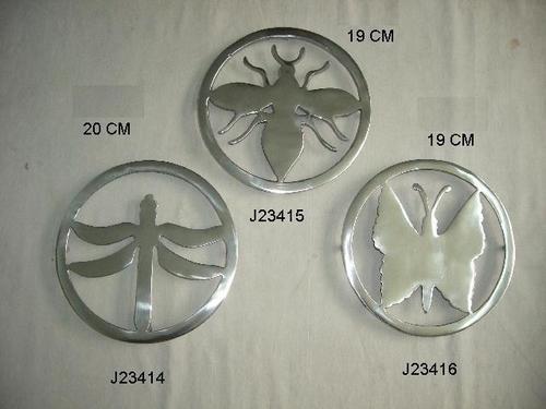 Aluminum Trivet Mirror Polish Cast Metal