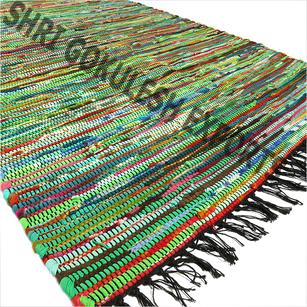 100% Cotton Handmade Cotton Chindi Rag Rugs