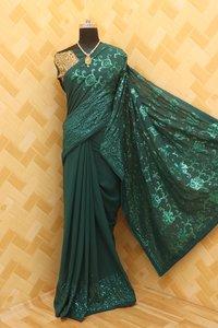 Bangalore Silk Saree With Full Work