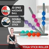 Yoga Massage Roller Stick (Random Color)