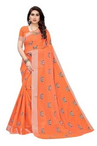 Chanderi Cotton Saree With Superb Print