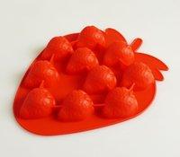 10 Cavity Strawberry Chocolate Cum Ice Cube Mould