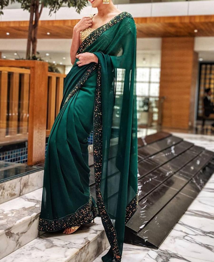 Green Saree