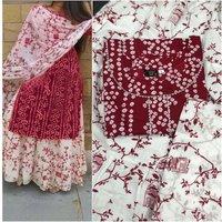 RGP FASHION GROUPS Rayon Straight Kurti With White Sharara Plazzo For Women & Girls Dress