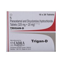 Dicyclomine HCL & Paracetamol Tablets