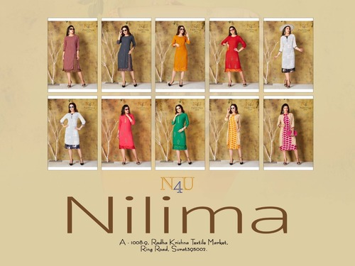 NILIMA Georgette With Embroidery Work Kurti