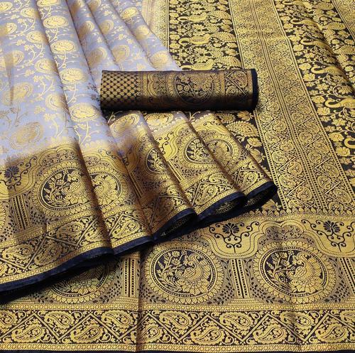 Naylon Broket Silk Saree