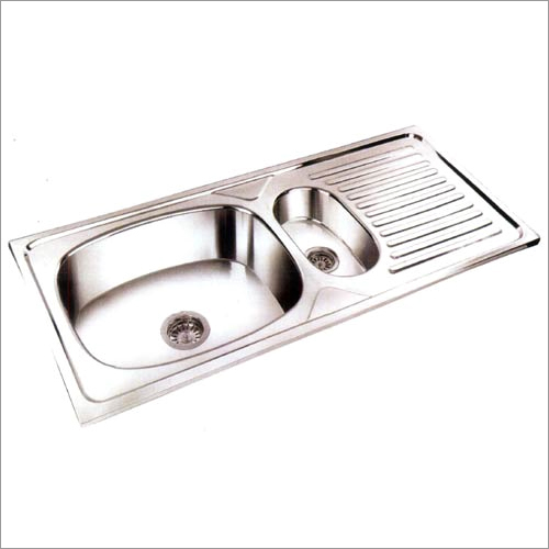 Stainless Steel Single Bowl and Veg Bowl with Drain Board