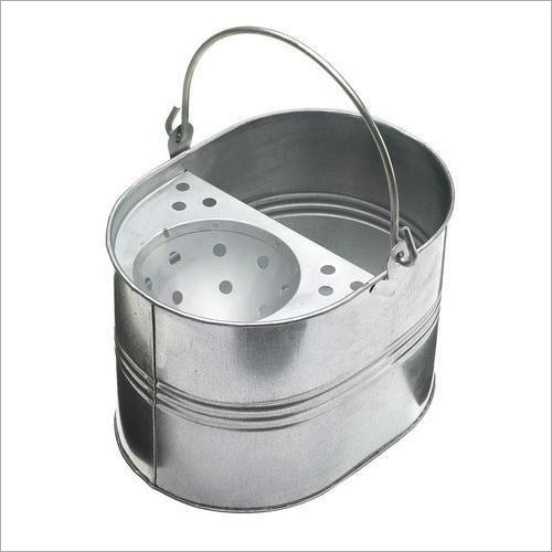 Round Galvanized Steel Mop Bucket