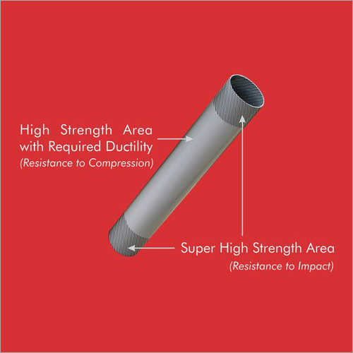 SS End Hardened Steel Cheese Tube