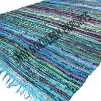 Cotton Chindi Rag Rug Washable Handmade Woven Technics Carpets