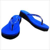 Ladies Blue Heels Slipper