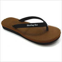 Ladies Ortho Brown Soft Slipper
