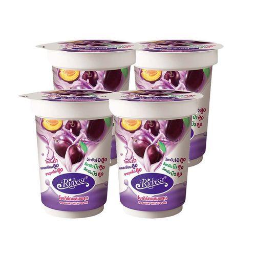 Riches yogurt prune 140 grams x 4 cups