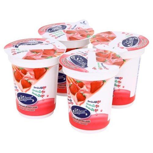 Riches Strawberry Yoghurt 140g x 4 cups