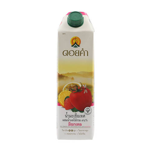 Doi Kham Mocktail, Tomato Juice with Mixed Fruit Juice 98% 1000 ml.