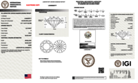 Round Brilliant Cut CVD 1.02ct Diamond F VVS2 IGI Certified Lab Grown TYPE2A 450028777
