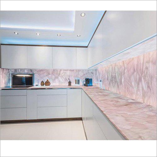 Rose Quartz Modular Kitchen Counter Tops