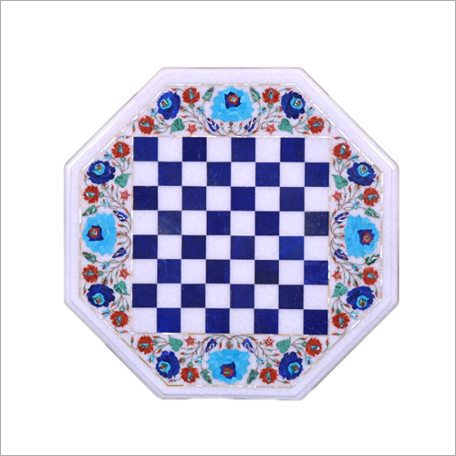 White Marble Inlay Chess