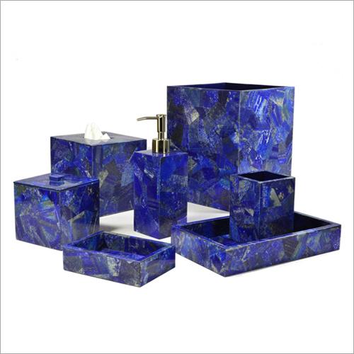 Designer Lapis Lazuli Bath Set
