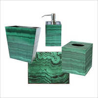 Designer Malachite Bath Set