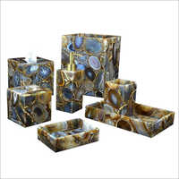 Designer Mother Of Pearl Bath Set