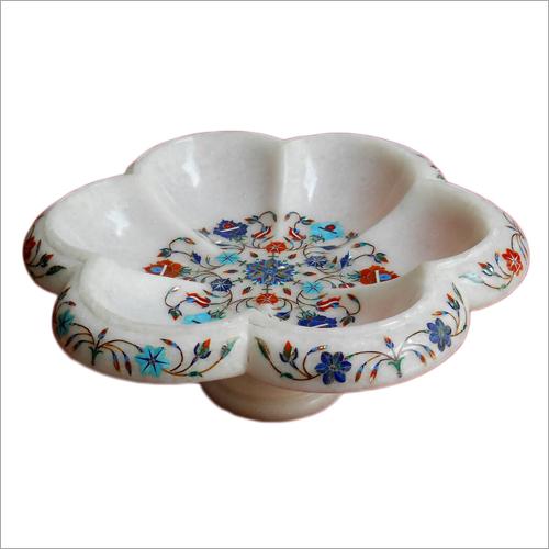 Designer Marble Inlay Fruit Bowl