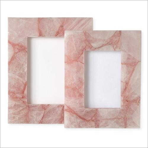 Rose Quartz Gemstone Photo Frame