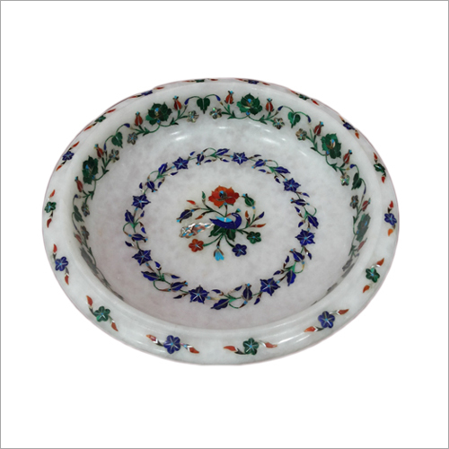 Marble Inlay Round Bowl