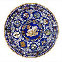 Decorative Round Marble Inlay Table Top