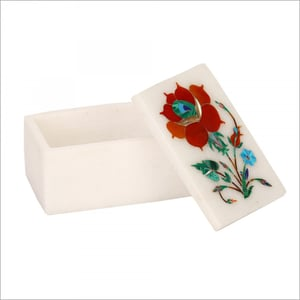 Decorative Marble Inlay Trinket Boxes