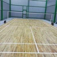 Teak Wood Badminton Court