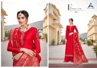 Amira Vol-15 Satin Gorgette With Heavy Work &additional Diamond Work Dress Material