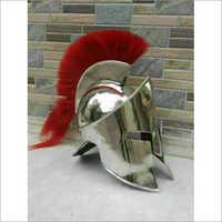 Silver Brass Antique Armor Medieval Armour Leonidas Greek Helmet