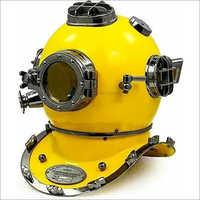 Vintage Yellow Black Diving Brass Scuba Morse Helmet