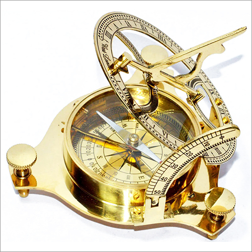 Brass Classic Sundial Compass