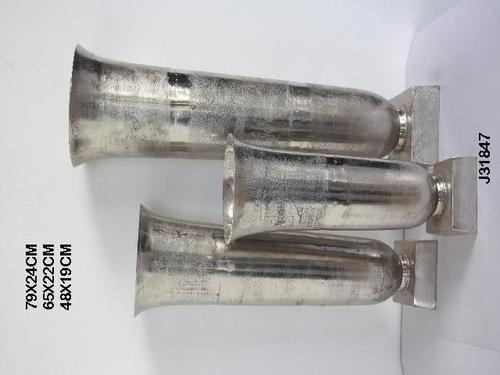 Rough Finished Aluminum Vase