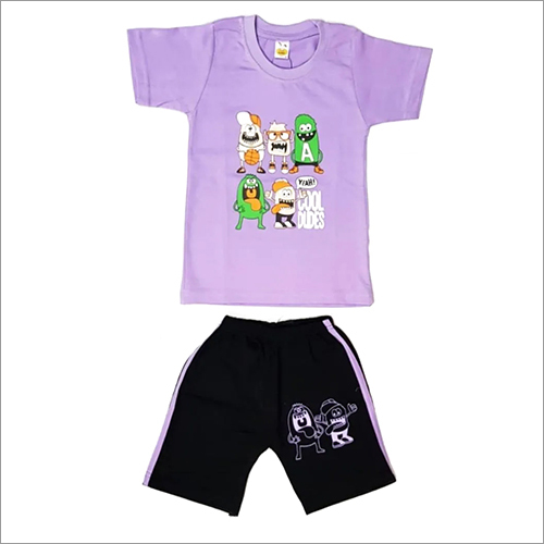 Cotton Purple Color Kids Wear