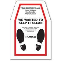 Personalized Super Large Paper Floor Mats - Dress Shoe Prints