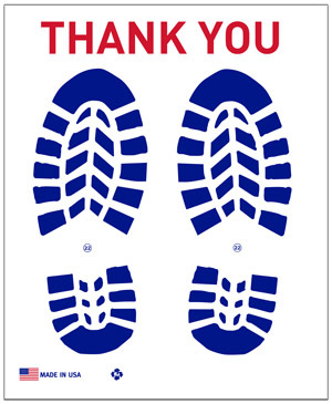 Personalized Super Large Paper Floor Mats - Dress Shoe Prints