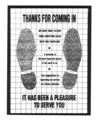 Value Paper Floor Mats