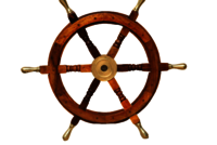 Nautical Look Wooden Ship Wheel With Brass Handle 24 Inch