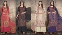 Kashmiri Queen 852 Designer Cotton Satin Digital Print Dress Materials