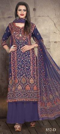 Kashmiri Queen 852 Designer Cotton Satin Digital Print Dress Materials