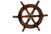Nautical Wooden Ship Wheel With Brass Anchor 24 Inch Ship Wheel