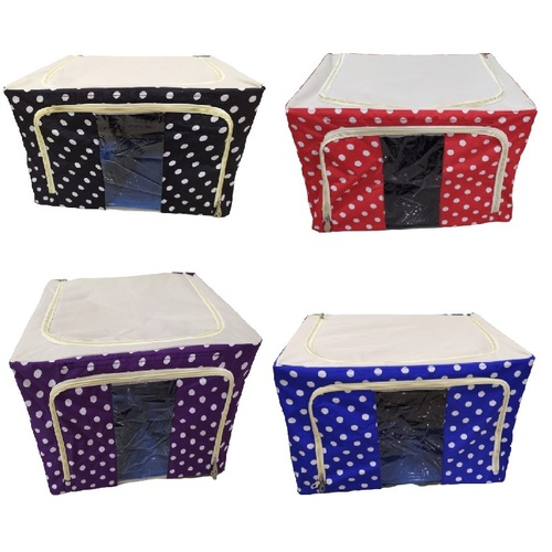 66L Polka Dots Saree Storage Box