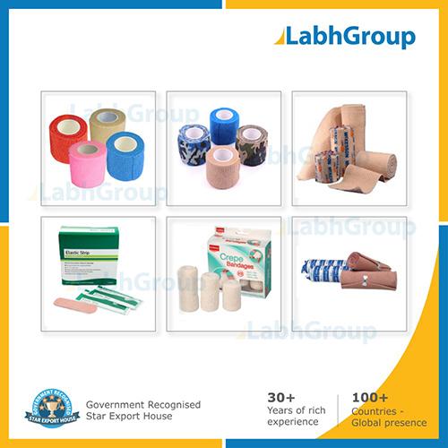 Elastic medical bandages and fabrics